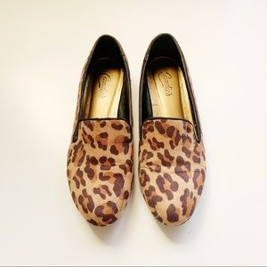 Candie's Suede Leopard Slipper Loafers size 8